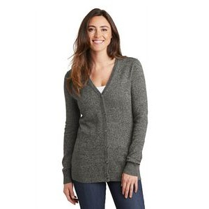 Port Authority® Ladies' Marled Cardigan Sweater