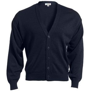 Edwards Unisex Acrylic Button V-Neck Cardigan Sweater