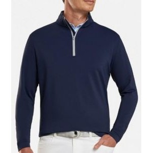 Peter Millar Perth Stretch French Loop Terry Quarter Zip Pullover Sweater
