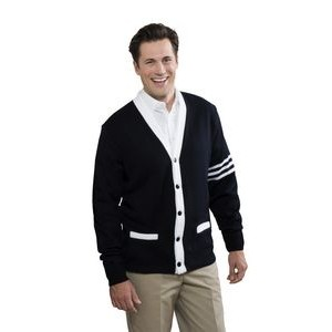 Unisex 5-Button V-Neck Varsity Pocket Cardigan